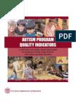 1 Autism Program Indicators