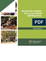 Guía de Iniciación formal de la actividad empresarial