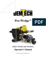 Pro Wedge Vm 20 Manual