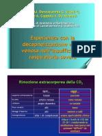 Esperienze con la decapneizzazione venovenosa nell'insufficienza respiratoria severa