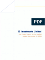 Jsil Half Yearly Report 2009
