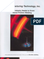 Welding Journal March 1994 What Industry Needs to Know About Friction Welding