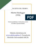 Heidegger - El Concepto de Tiempo