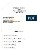 Product Design and Process Selection - Services