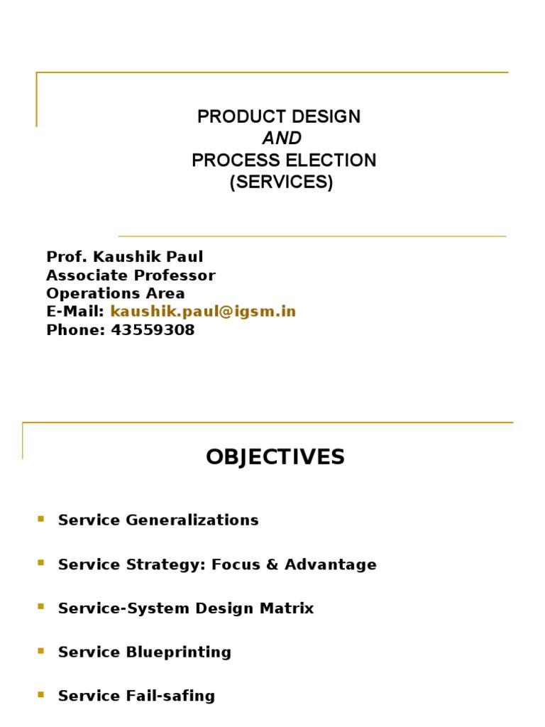 service process design matrix