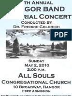 Memorial Concert 5-2-10