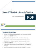 iLearnNYC Admin Console Training Presentation August 2011