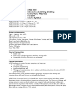 UT Dallas Syllabus for atec3320.001.11f taught by Carie Lambert (cxl085200)