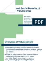 Benefits of Volunteering 2008