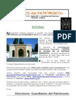 Boletín AMIGOS del PATRIMONIO No.8 Agosto