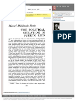 "Conexion en Jstor a Lectura ""The Political Situation in Puerto Rico"""