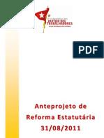 Anteprojeto de Reforma Estatutária PT