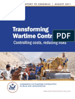 CWC Final Report To Congress--Transforming Wartime Contracting, Controlling Costs, Reducing Risk, August 2011