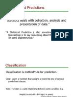 Statistics and Predictions