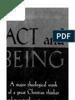 bonhoeffer Akt Und Sein, 1956 - Act and Being, English Translation, 1961