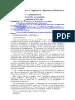 Aprueban Reglamento de Organización y Funciones del Ministerio de la Producción