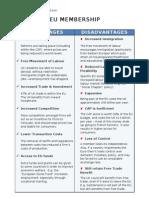 Advantages Disadvantages EU
