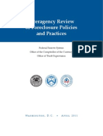 Interagency Review of Foreclosure Policies and Practices by the FSR, OCC, and OTS