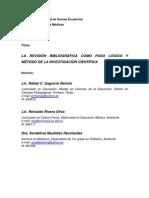 La revisión bibliográfica como paso lógico y método de la investigación científica