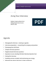 Acing Your Interview Webinar