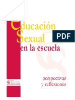 Educacion Sexual en La EscuelaPERSPYREFLEXIONES