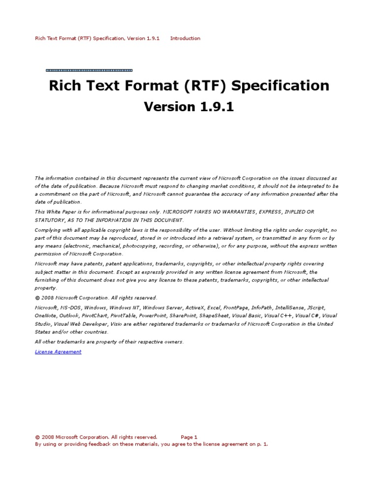 word 2007 rtf spec 9 microsoft word text rh scribd com Microsoft Word Style Sets Microsoft Manual of Style PDF