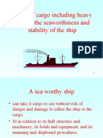 111Effect of Cargo Including Heavy Lifts on The