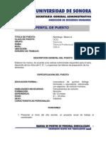Perfil de puesto Nutriólogo  Básico