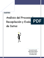 Analisis Del Proceso y Recopilacion y Evaluacion de Datos