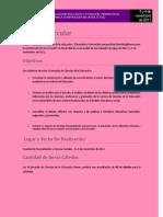 Primera circular de Ciencias de La Educacion