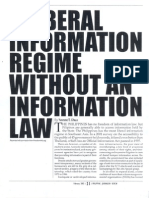 A Liberal Information Regime Without an Information Law (Feb. 2003)