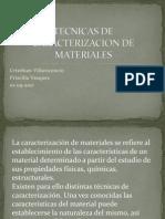 Tecnicas de Caracterizacion de villavicencio Vasquez
