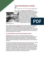 Las Contribuciones de Amartya Sen Al Estudio Sobre La Pobreza
