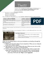 Thesis Statement Tip Sheet