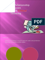 Relationships Between Critical Thinking & Creative Thinking