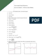 3 Lista de Exercícios de Cálculo 1