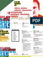 CENTRO CULTURAL BRITÁNICO COLOQUIO-ARGUEDAS Del 5 al 9 setiembre 2011