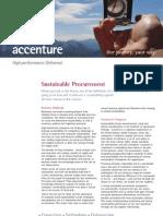 Accenture Sustainable Procurement