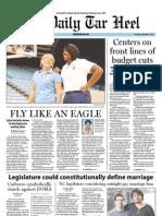 The Daily Tar Heel for September 1, 2011