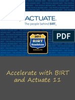 Accelerate With BIRT and Actuate11