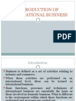 Introduction of International Business