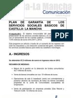 Plan de garantía de los servicios sociales básicos de Castilla-La Mancha.