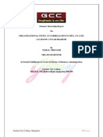 Project Report on Organizanioal Study of Godrej