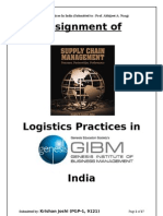 Logistics Practices in India