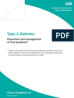 Diabetic Footcare NICE Guidlies