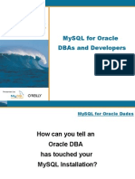 Mysql for Oracle