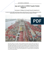 Structural Design and Analysis of FPSO Topside Module Supports