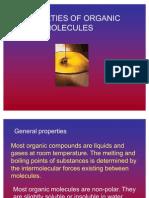 Properties of Organic Molecules
