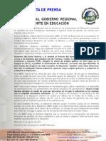 Nota de Prensa Recortes Cospedal