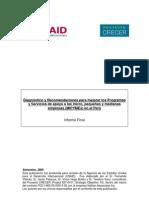 a Microfinanzas y SDE en Pero